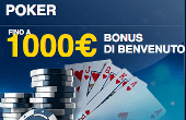Codice Promo William Hill poker